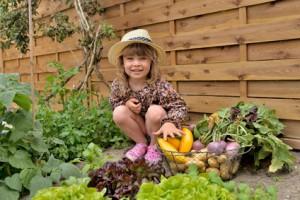 strohgarten für Kinder